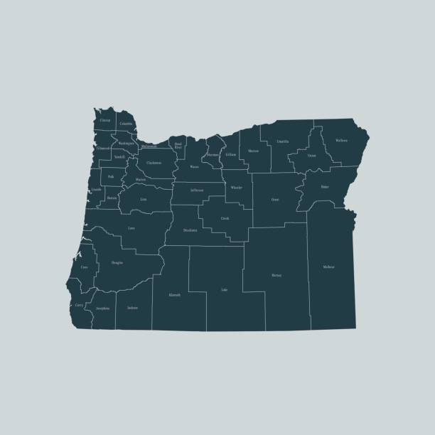 Free Oregon Map.Royalty Free Oregon Map Clip Art Vector Images Illustrations Istock