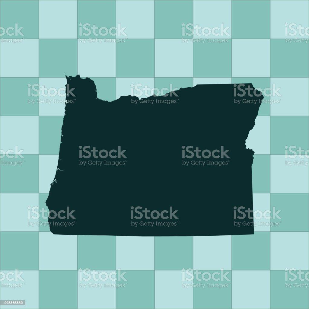 Oregon map - Grafika wektorowa royalty-free (Ameryka Północna)