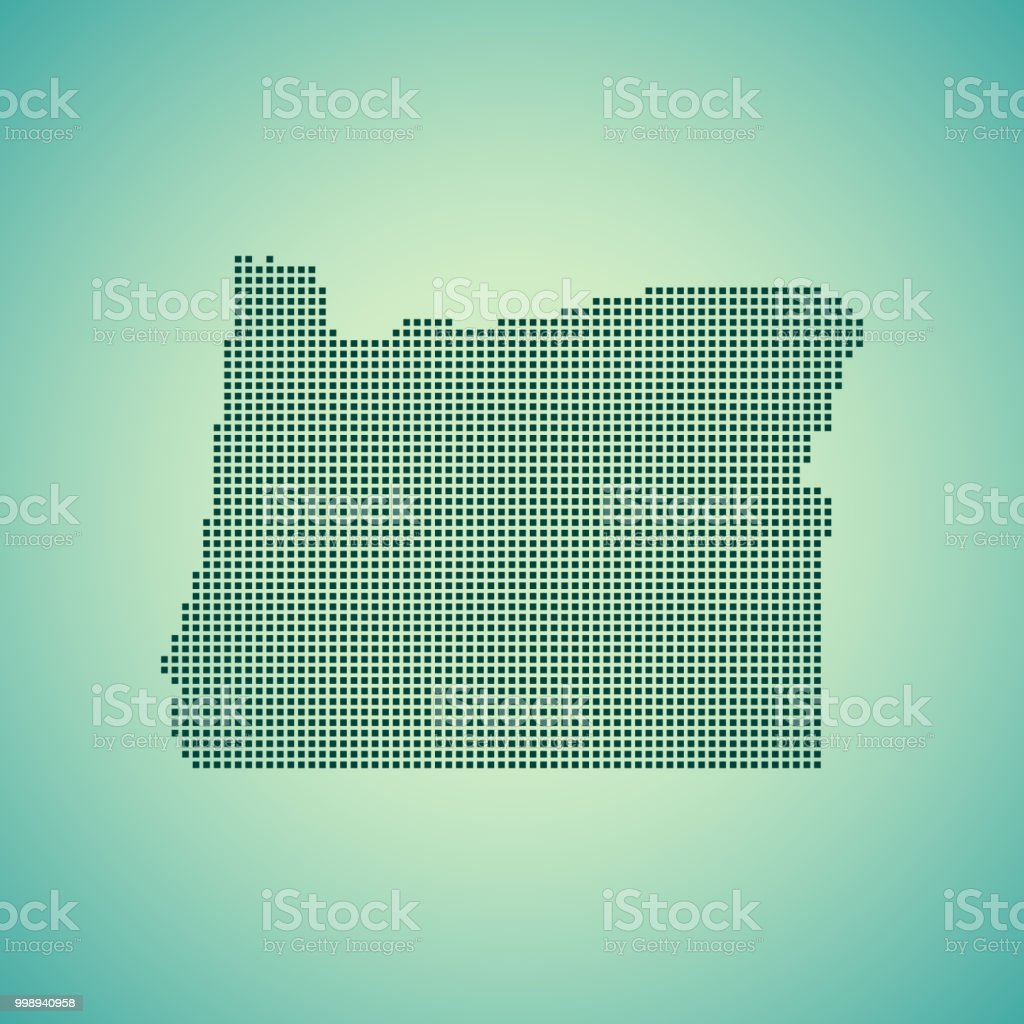 Oregon Map Stock Vector Art & More Images of Cartography 998940958 ...