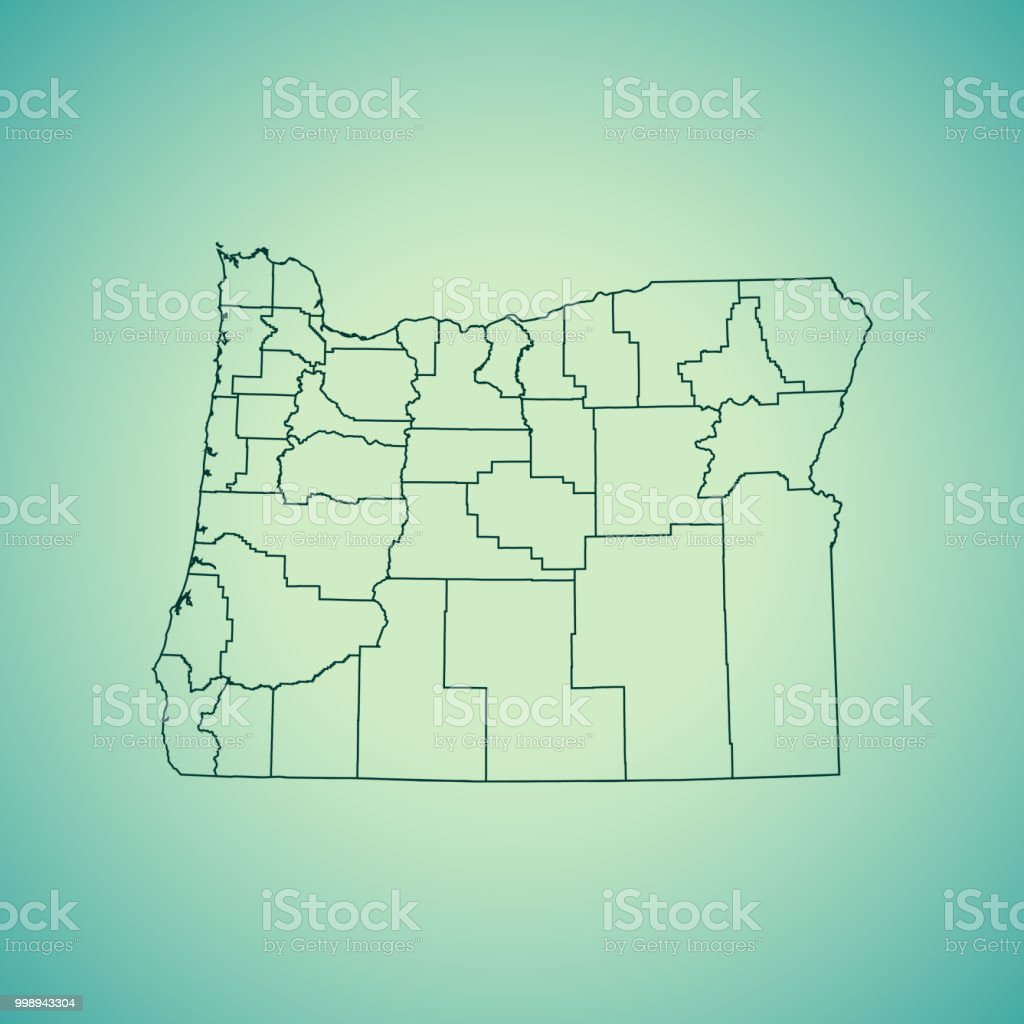 Map Of America Oregon.Oregon Map Stock Vector Art More Images Of Cartography Istock