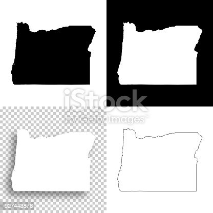 Map of Oregon for your own design. With space for your text and your background. Four maps included in the bundle: - One black map on a white background. - One blank map on a black background. - One white map with shadow on a blank background (for easy change background or texture). - One blank map with only a thin black outline (in a line art style). The layers are named to facilitate your customization. Vector Illustration (EPS10, well layered and grouped). Easy to edit, manipulate, resize or colorize. Please do not hesitate to contact me if you have any questions, or need to customise the illustration. http://www.istockphoto.com/portfolio/bgblue