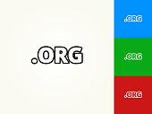 .org Black Stroke Linear Icon
