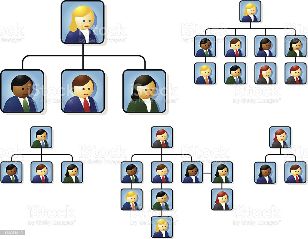Org Chart People royalty-free stock vector art