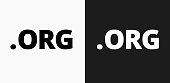 .org Icon on Black and White Vector Backgrounds