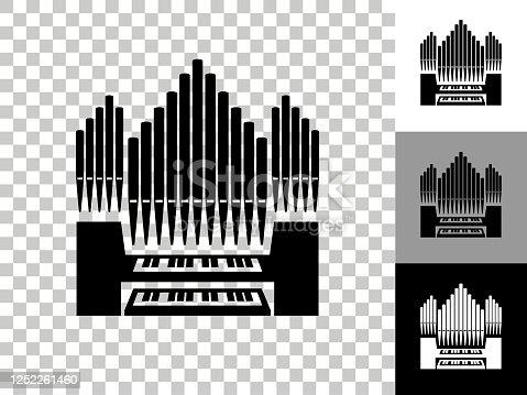 istock Organ Icon on Checkerboard Transparent Background 1252261460