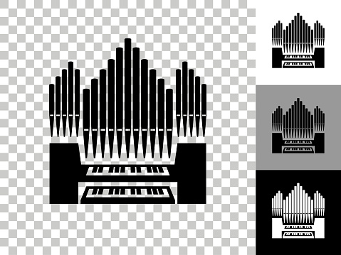 Organ Icon on Checkerboard Transparent Background