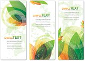 Beautiful nature background set of banners with copy space.
