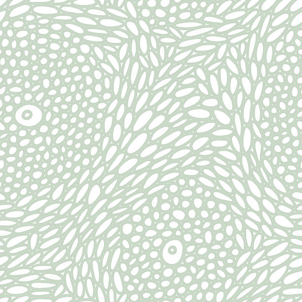 Organic cell structure seamless pattern Seamless pattern; stylized microscopic biological cell structure. natural pattern stock illustrations