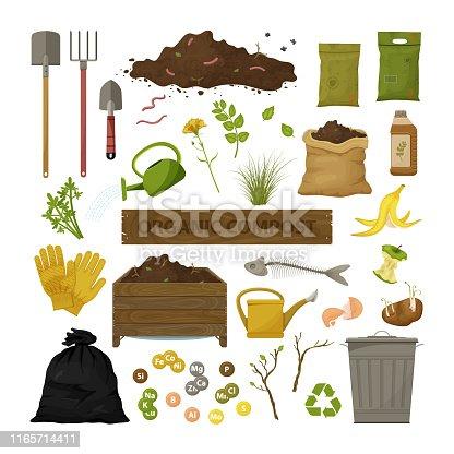 istock Organic compost theme 1165714411