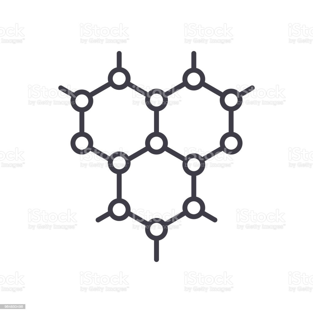 Organic compound black icon concept. Organic compound flat  vector symbol, sign, illustration. royalty-free organic compound black icon concept organic compound flat vector symbol sign illustration stock vector art & more images of atom