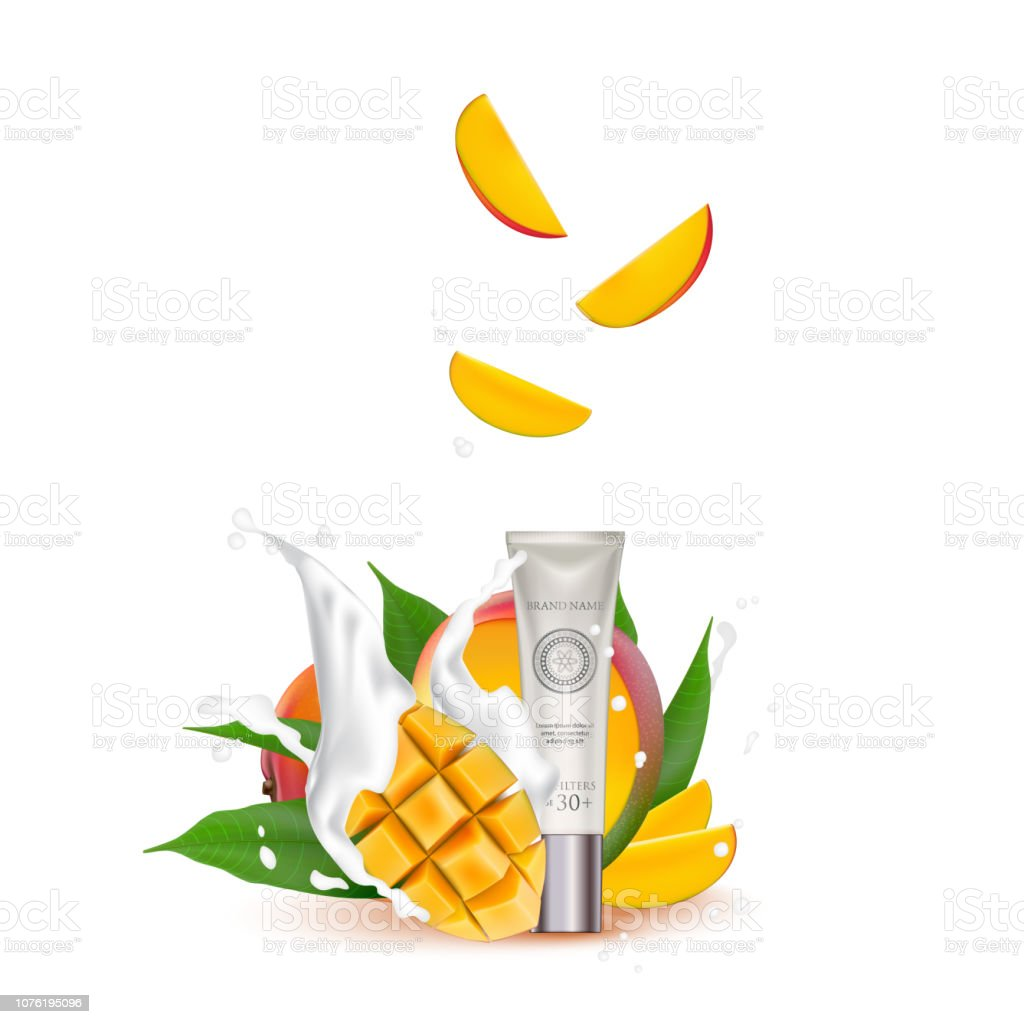 Organic Cosmetic luxury packaging, plastic tube. Cosmetics cream...