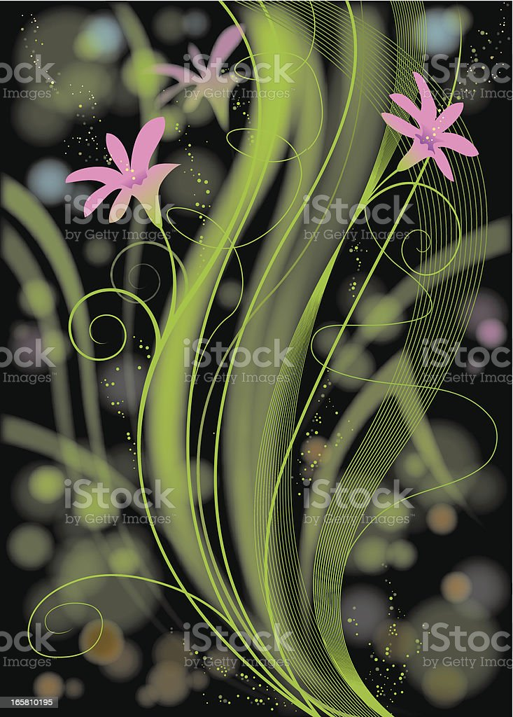 Organic dynamic vector art illustration