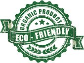 Organic eco friendly product sign - VECTOR