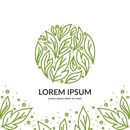 Organic emblem. Great for logo, monogram, invitation, flyer, menu, brochure.
