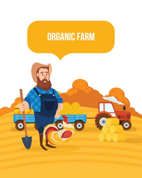 EPS Vector - Agricultural machinery in the field. Stock Clipart  Illustration gg85914652 - GoGraph