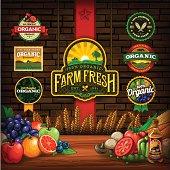 istock Organic Farm Fresh Design Elements 481433069