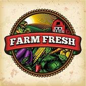 istock Organic Farm Fresh Label 5 467095323