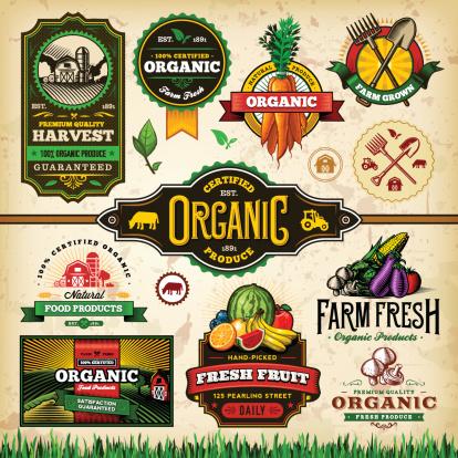 Organic Farm Fresh Label Set 3