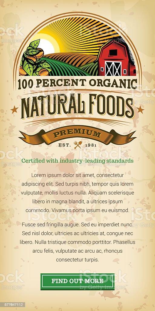 Organic Farm Fresh Web Banner vector art illustration