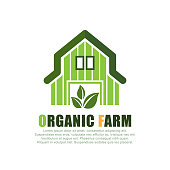 organic farm. eps 10 vector file