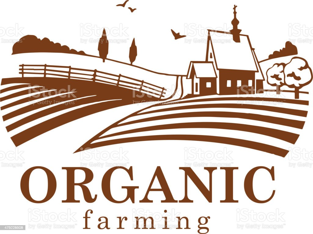 Organic farming design element. vector art illustration