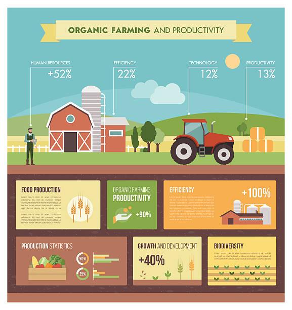 illustrations, cliparts, dessins animés et icônes de agriculture biologique - agriculture