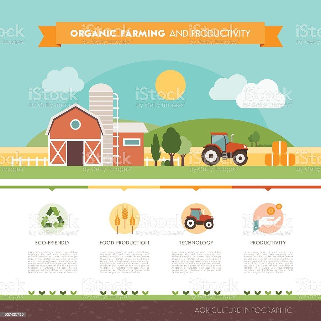 Organic farming vector art illustration
