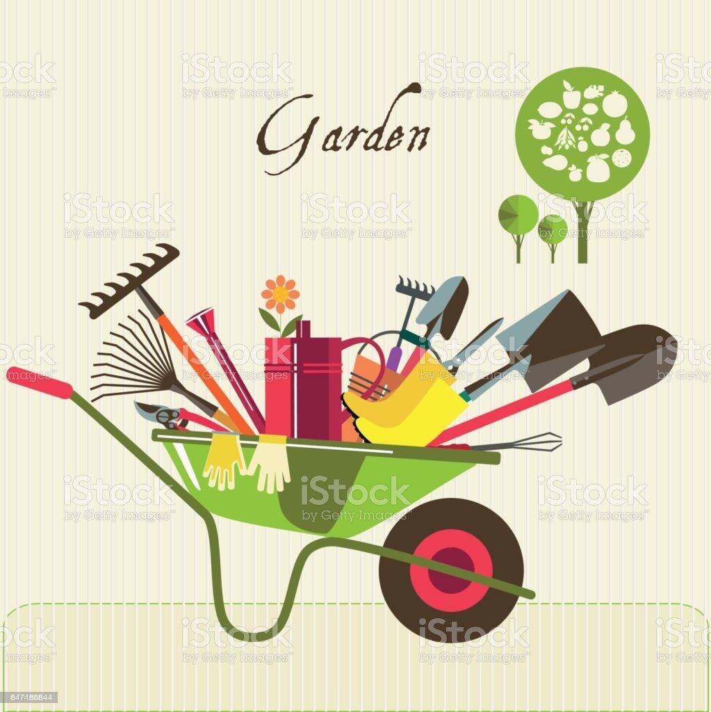 Organic farming. vector art illustration