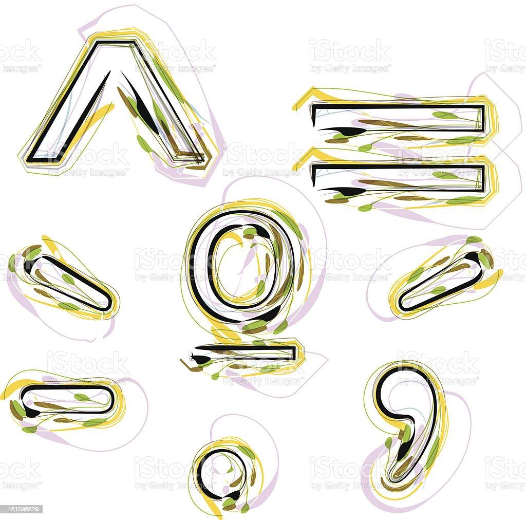 Organic Font Symbol illustration royalty-free stock vector art