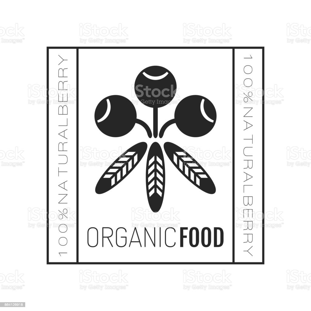Organic food. Badge, label for healthy eating, berry icon. Illustration royalty-free organic food badge label for healthy eating berry icon illustration stock vector art & more images of abstract