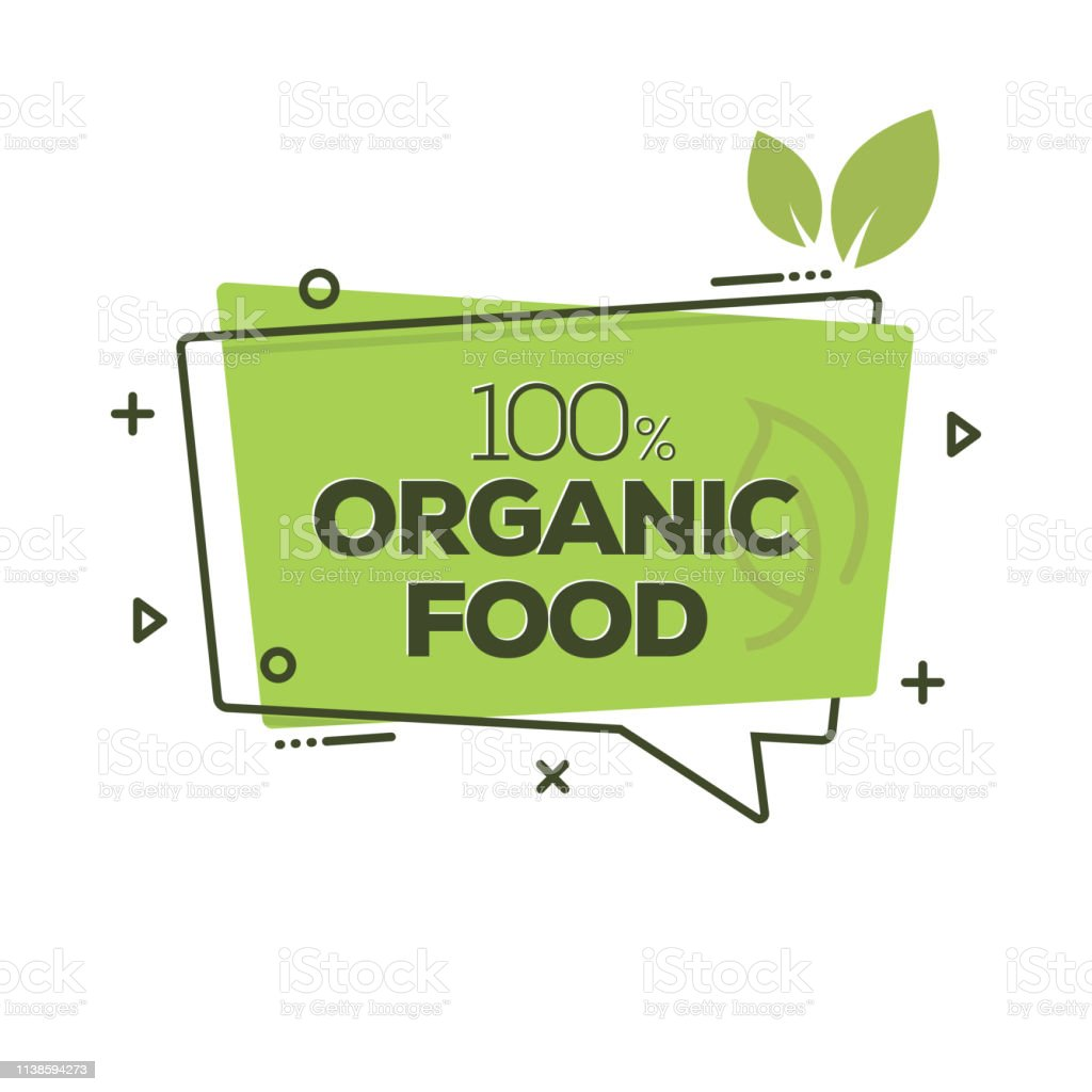 Organic Food Badge - arte vettoriale royalty-free di Adesivo