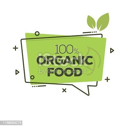 istock Organic Food Badge 1138594273