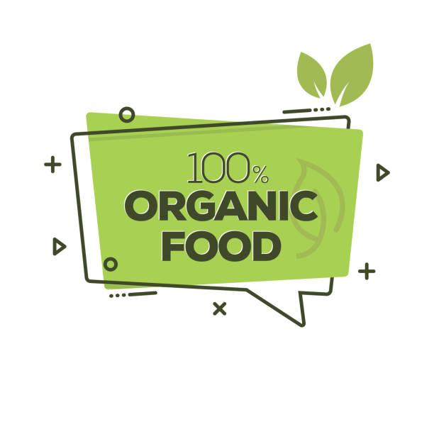 bildbanksillustrationer, clip art samt tecknat material och ikoner med ekologisk mat badge - ekosystem