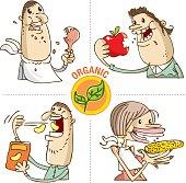 organic food eaters vector