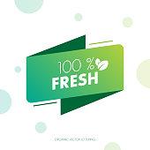 Organic food labels. Natural meal fresh products logo. Ecology farm bio food vector premium badges stock illustration