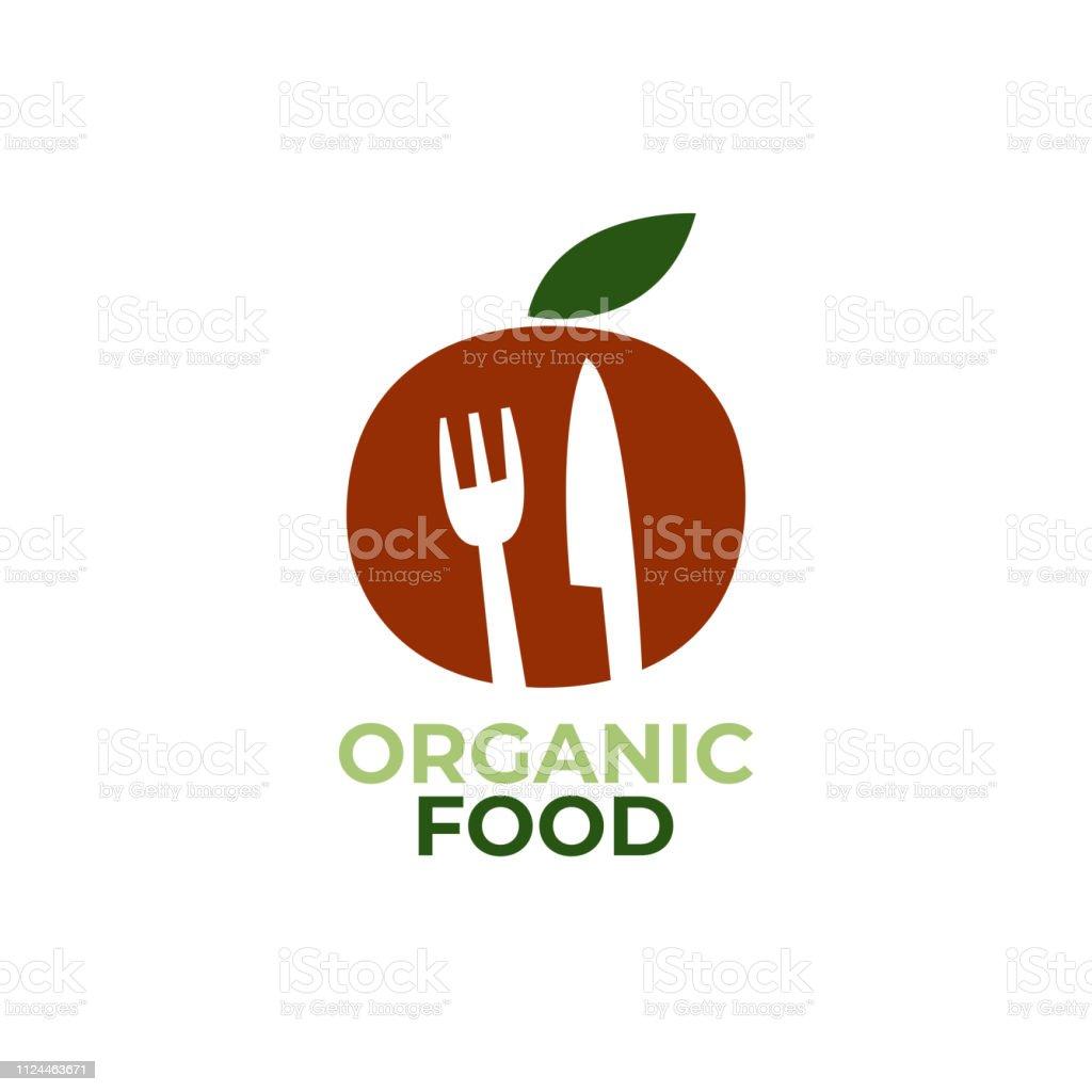 Organic Food Logo Template. Vegetarian restaurant logo. Modern...