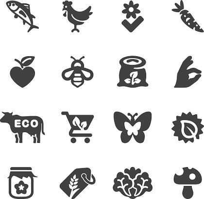 Organic Food Silhouette icons | EPS10