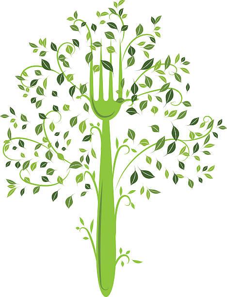 Produits bio arbre - Illustration vectorielle
