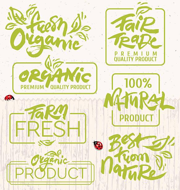 organic food - freshness stock illustrations, clip art, cartoons, & icons