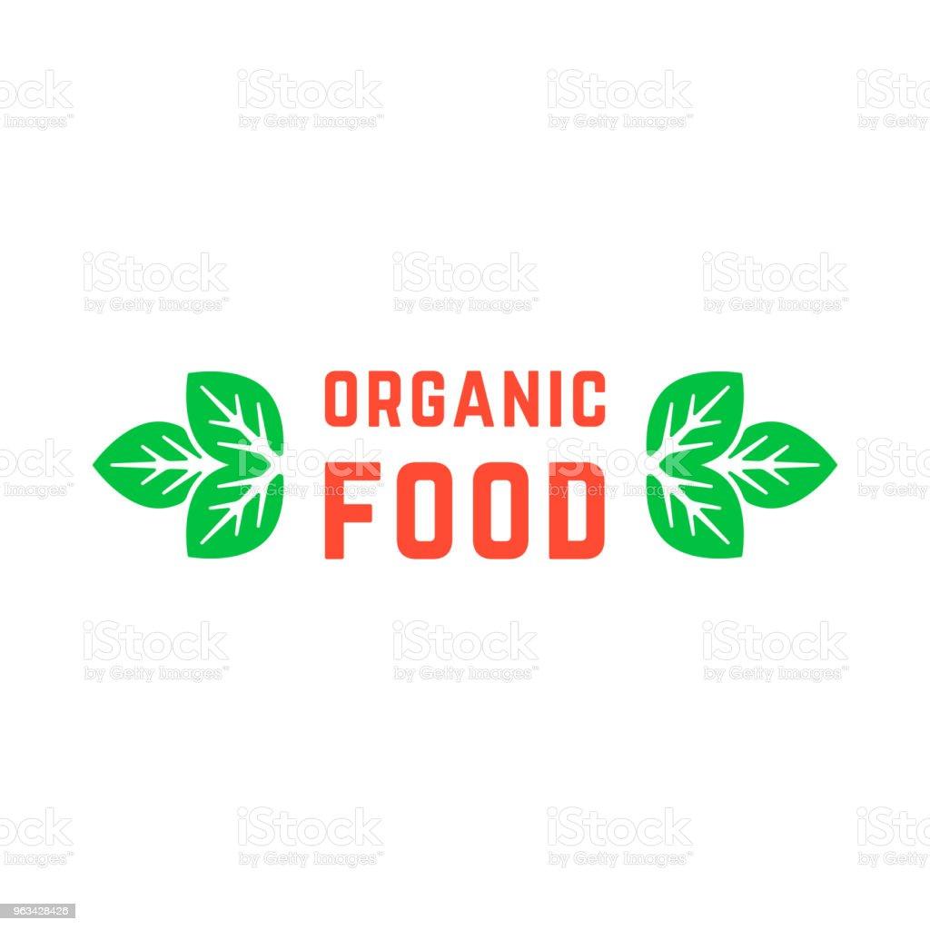 organic food with green leafs - Grafika wektorowa royalty-free (Bez ludzi)