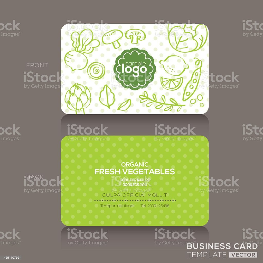 Organic foods shop or vegan cafe business card design template organic foods shop or vegan cafe business card design template royalty free stock vector art magicingreecefo Choice Image