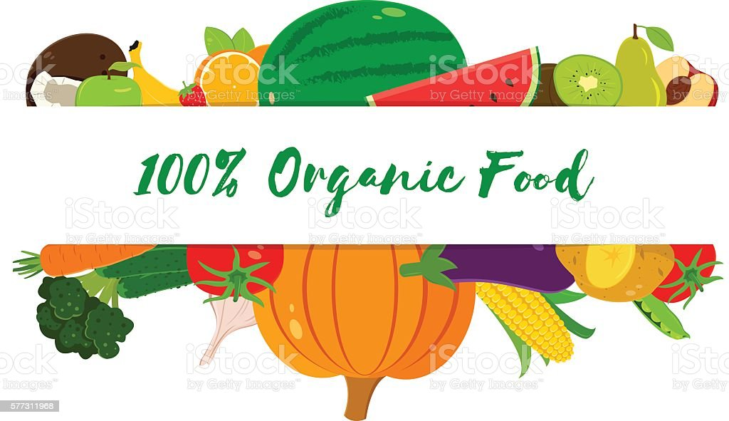 Organic fruits and vegetables template. Healthy eating concept. Vector royalty free organic fruits and vegetables template healthy eating concept vector stockvectorkunst en meer beelden van ananas