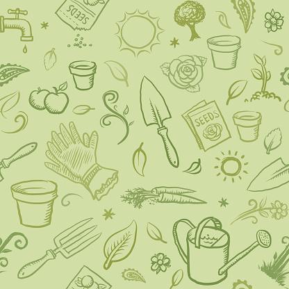 Organic gardening icons wallpaper