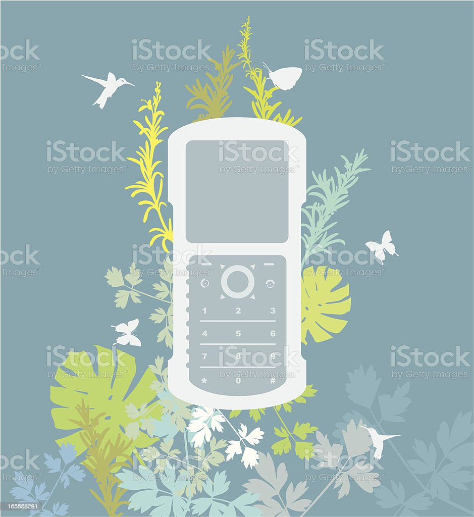 Organic Graphic - Cell Phone royalty-free organic graphic cell phone stock vector art & more images of art and craft