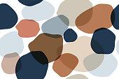 Seamless Abstract Stone Pattern, Organic Hand Drawn Background, Nature Pattern