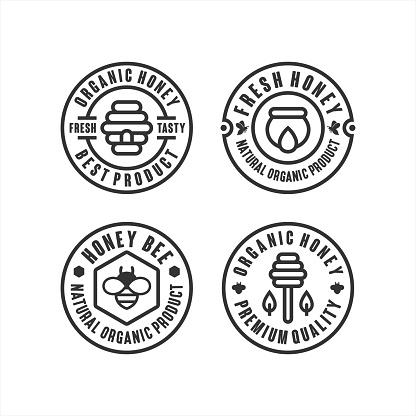 Organic honey best product logos
