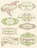 Designed by a hand engraver. Highly detailed ornate frames for organic products. Included linen weave background.