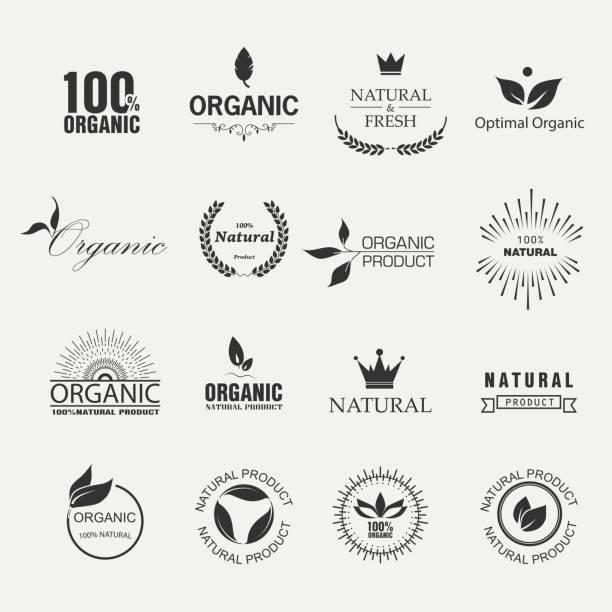 Étiquettes bio - Illustration vectorielle