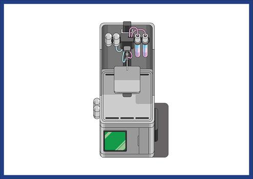 Illustration of 3d printer technologie for modern manufacturing. Vector files