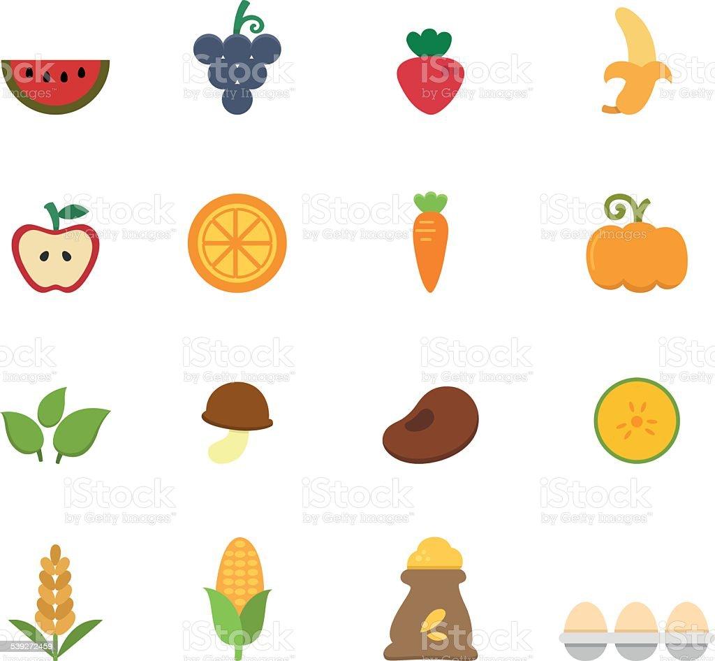 organic natural food icon vector vector art illustration